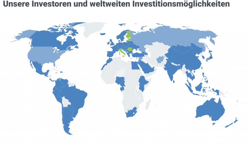 unsere investoren und weltweiten investitionsmöglichkeiten
