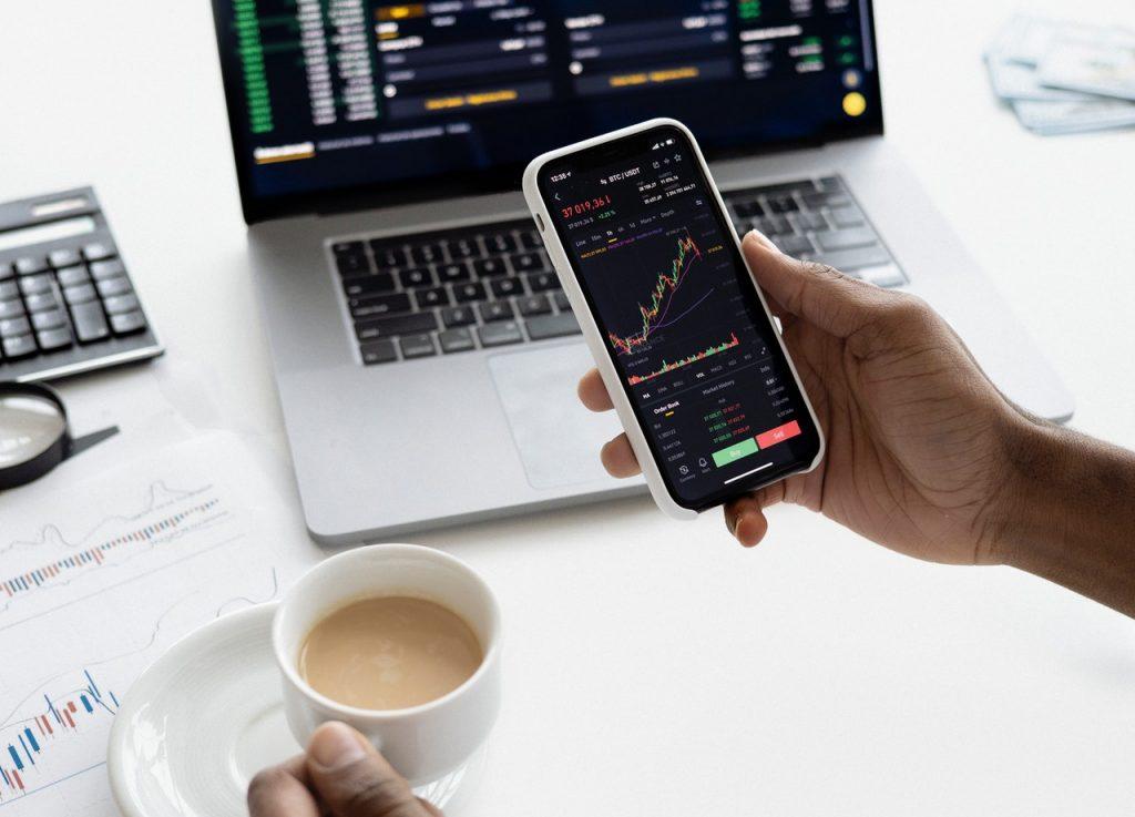investment stocks on phone